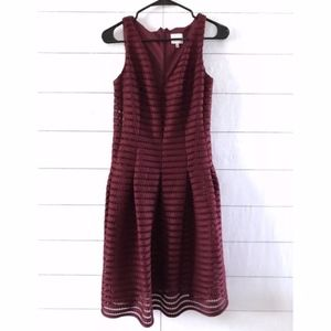 Beyond Ashley Graham Burgundy Sleeveless Dress